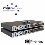 VoIPDistri.com offers Phybridge PoE Ethernet over Coax CLEER Switch, the first efficient solution up to 24 IP cameras can be installed in place of an old analog video camera
